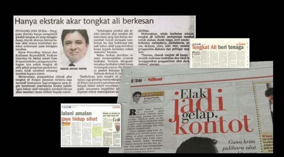 Keratan akhbar Dr. Ismail Tambi