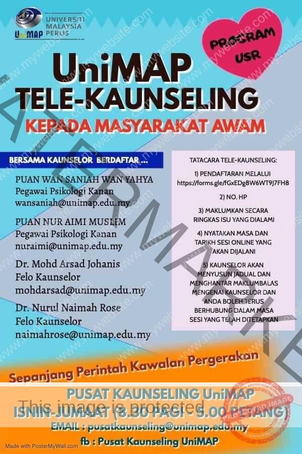 Tele kaunseling UNIMAP